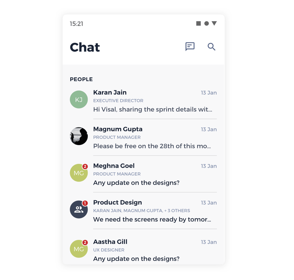 Internal messenger software